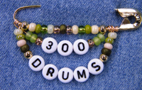 300 Drums pin