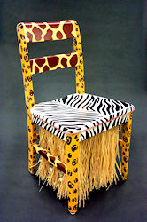 "Painted Chair: ""Out of Africa"""