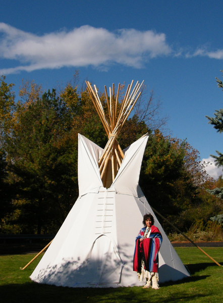 Kate with Wilson teepee