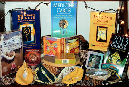 Divination and insprirational card decks- available from The Mesa Creative Arts Center Gift Shop