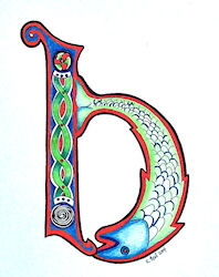 Celtic Illumination letter 'h'