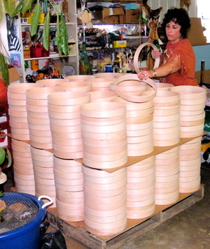 Stacking drum hoops