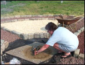 Medicine Wheel construction photo 10