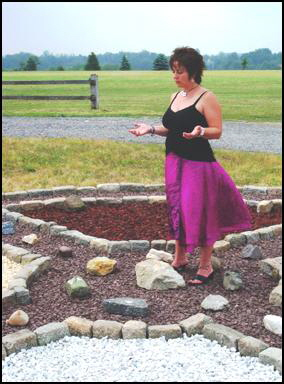 Kate in center of Medicine Wheel